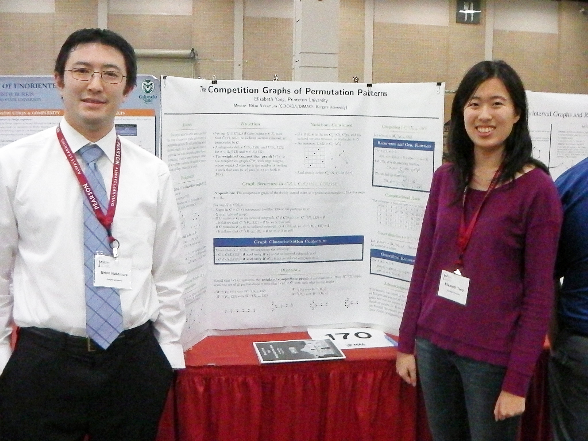 Brian Nakamura and Elizabeth Yang at the 2015 Joint Math Meetings